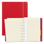 Rediform Notebook, College Rule, Red Cover, 8 1/4 x 5 13/16, 112 Sheets/Pad