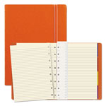 Filofax Notebook, College Rule, Orange Cover, 8 1/4 x 5 13/16, 112 Sheets/Pad