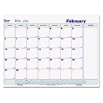 Blueline Write-On Cling-On Poly Monthly Calendar, 17 x 22, White