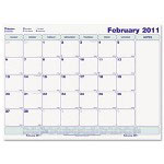 Rediform Write-On Cling-On Monthly Calendar, 8 1/2 x 11, White