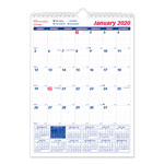 Brownline One Month Per Page Twin Wirebound Wall Calendar, 8 x 11, 2019