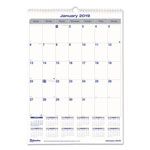 Blueline Net Zero Carbon Monthly Wall Calendar, 17 x 12, 2018