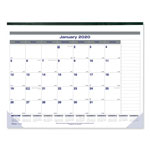 Blueline Net Zero Carbon Monthly Desk Pad Calendar, 22 x 17, Black Band and Corners, 2017