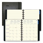 Filofax Monthly Planner, 10 3/4 x 8 1/2, Black, 2018-2019