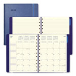 Filofax Monthly Planner, 10 3/4 x 8 1/2, Blue, 2018-2019