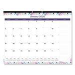 Brownline Monthly Deskpad Calendar, Chipboard, Geometric, 22 x 17, 2017