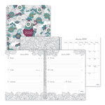 Blueline Doodleplan Weekly/Monthly Appointment Book, 11 x 8 1/2, Botanica, 2019
