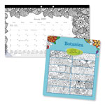 Rediform DoodlePlan Desk Calendar w/Coloring Pages, 17 3/4 x 10 7/8, 2017