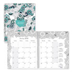 Blueline Doodleplan Monthly Planner, 8 7/8 x 7 1/8, Coloring Pages, 2019