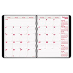 Brownline PlannerPLUS 14-Month Monthly Planner, 8 7/8 x 7 1/8, Black, 2017