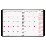 Brownline PlannerPLUS 14-Month Monthly Planner, 11 x 8 1/2, Black, 2018