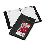 Brownline CoilPRO Daily Planner, Ruled One Day/Page, 30 Minute Appoint., 5 x 8, Black