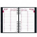 Rediform CoilPRO 2011 Daily Planner, Ruled One Day/Page, 15 Minute Appointments, 5 x 8, Black