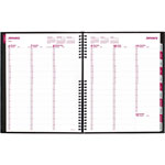 Brownline CoilPRO Weekly Planner, 1 Week Spread, 15 Min. Appts., 8 1/2 x 11, Black