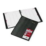 Brownline CoilPRO Four Person Daily Appointment Book, 15 Min.Appts., 8 1/2x11, Black