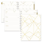 Blueline Gold Collection Weekly/Monthly Planner, 11 x 9 3/5, White and Gold, 2019