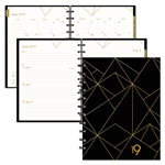 Blueline Gold Collection Weekly/Monthly Planner, 11 x 9 3/5, White and Black, 2019