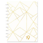 Blueline Gold Collection Monthly Planner, 11 x 9 3/5, White and Gold, 2019