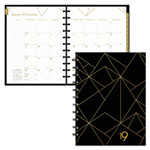 Blueline Gold Collection Monthly Planner, 11 x 9 3/5, White and Black, 2019