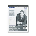 Rediform Employee Application Form Revised for Disabilities Act, 50 Sheets/Pad