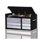 "Remline 10 Drawer Tool Chest 42"" W/Ball Bearing Slides Black"