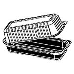 Reynolds 12481 Ultra Pac PETE Single Compartment Plastic Hinged Lid Hoagie Container