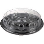 Reynolds 13613 Black Round Flat CaterTime Tray, 16""