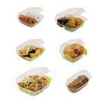 Reynolds 1756 Single Compartment Hinged Plastic Container, 6""