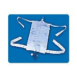 Rochester Medical Latex Free Urinary Leg Bag, 800mL, Secure Glide Drain