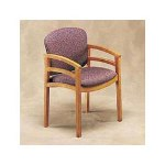 Hon 2112 Series Wood Guest Chair, Henna Cherry, Poly/Nylon Sangria Fabric