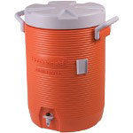 Rubbermaid Orange Five Gallon Insulated Water Cooler