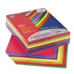 "Riverside Paper Array 65 lb. Card Stock, 8 1/2"" x 11"", Assorted Lively Colors"