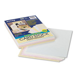 Riverside Paper 65 lb. Card Stock, 8 1/2 x 11, Assorted Parchment Colors, 100 Sheets/Pack
