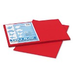Riverside Paper Construction Paper, 76 lbs., 12 x 18, Holiday Red, 50 Sheets/Pack