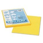 Riverside Paper Tru Ray® Construction Paper, 9 x 12 Sheets, Yellow, 50 Sheets/Pack