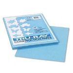 "Riverside Paper Tru-Ray Construction Paper, 9"" x 12"" Sheets, Sky Blue"