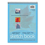 "Riverside Paper Art Street Spiral-Bound Artists Sketch Book, 9"" x 12"", 80 lb., 30 Sheets"
