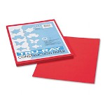 Riverside Paper Tru Ray® Construction Paper, 9 x 12 Sheets, Festive Red, 50 Sheets/Pack