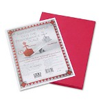 "Riverside Paper Construction Paper, 9"" x 12"", Red"