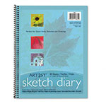 "Riverside Paper Spiral-Bound Artist's Sketch Diary, 11"" x 8 1/2"", 50 lb., 80 Sheets"