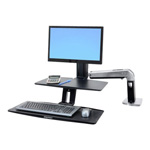 Ergotron Workfit-A With Suspended Keyboard, Single LD - Stand