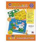 "Roselle Paper Crafty Printed Construction Paper, 55 lbs., 9""x12, Cutesy Critters"