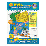 "Roselle Paper Crafty Printed Construction Paper, 55 lbs., 9""x12, Under The Sea"