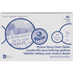 "Roselle Paper Picture Story Chart Tablet, 24"" x 16"", Ruled Pages, 20 Sheets"