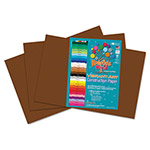 Roselle Paper Heavyweight Construction Paper, 58 lbs., 12 x 18, Dark Brown, 50 Sheets/Pack