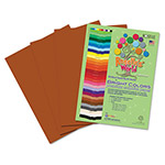 Roselle Paper Premium Sulphite Construction Paper, 76 lbs., 9 x 12, Brown, 50/Pack