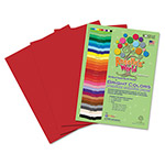Roselle Paper Premium Sulphite Construction Paper, 76 lbs., 9 x 12, Scarlet, 50/Pack