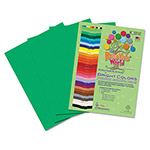 Roselle Paper Premium Sulphite Construction Paper, 76 lbs., 12 x 18, Holiday Green, 50/Pack