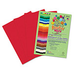 Roselle Paper Premium Sulphite Construction Paper, 76 lbs., 12 x 18, Festive Red, 50/Pack