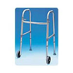 Carex Adult Dual Paddle Walker with Wheels And Glides